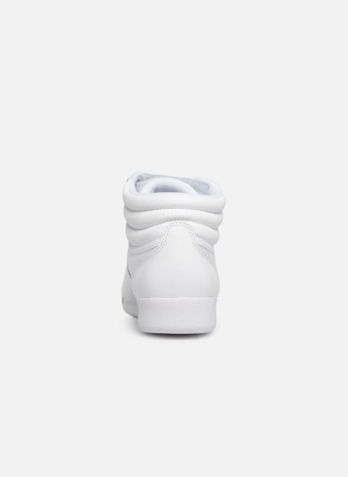 Trainers Reebok Freestyle Hi White view from the right