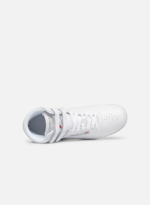Trainers Reebok Freestyle Hi White view from the left