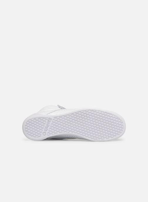 Trainers Reebok Freestyle Hi White view from above