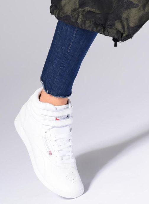 Sneakers Reebok Freestyle Hi Bianco immagine dal basso