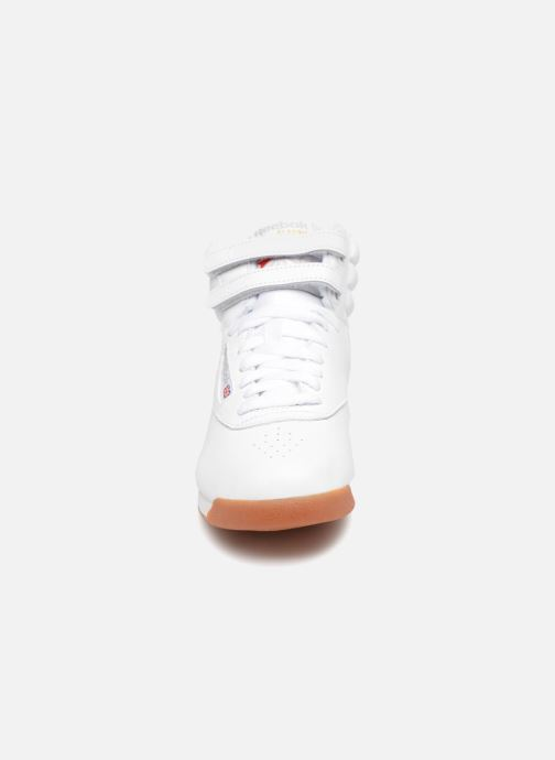 Sneakers Reebok Freestyle Hi Bianco modello indossato
