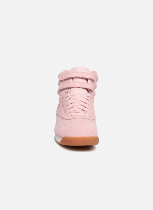 Sneaker Reebok Freestyle Hi rosa schuhe getragen
