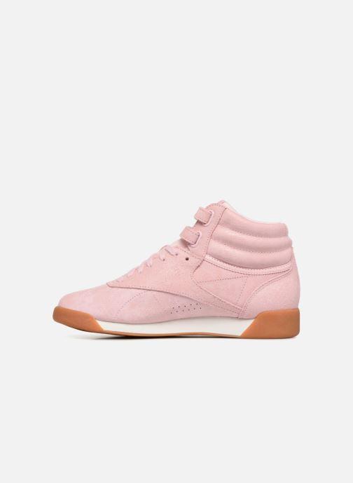 Sneaker Reebok Freestyle Hi rosa ansicht von vorne