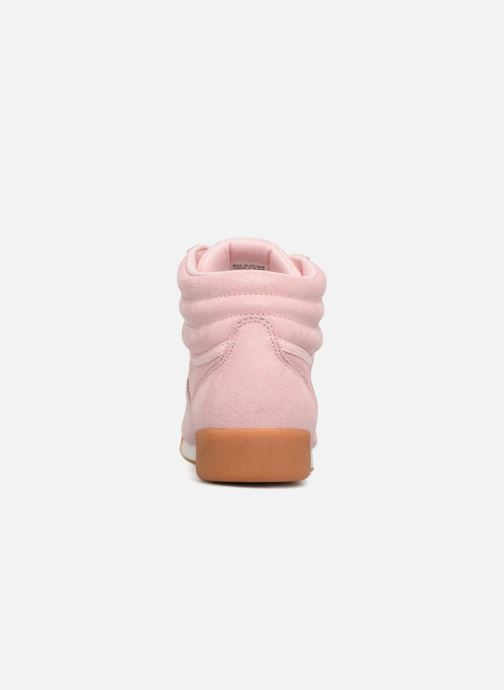 Trainers Reebok Freestyle Hi Pink view from the right