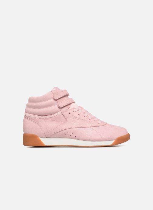 Sneaker Reebok Freestyle Hi rosa ansicht von hinten
