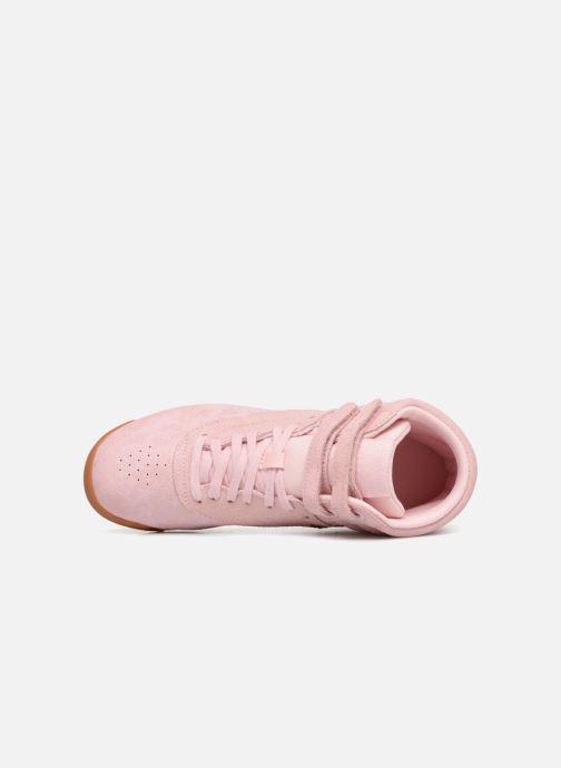 Sneaker Reebok Freestyle Hi rosa ansicht von links