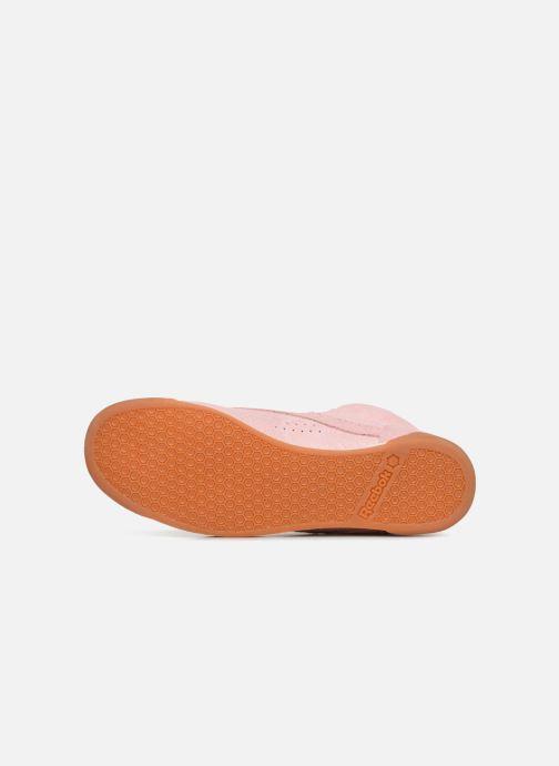 Sneaker Reebok Freestyle Hi rosa ansicht von oben
