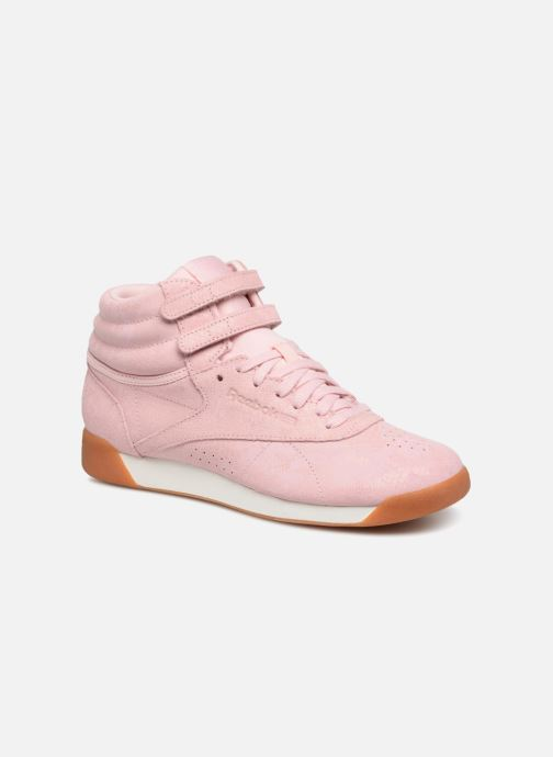 Trainers Reebok Freestyle Hi Pink detailed view/ Pair view