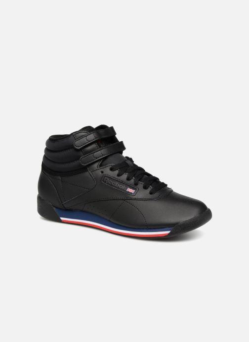 Sneakers Reebok Freestyle Hi Zwart detail