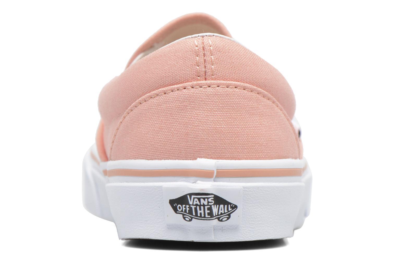 Baskets Vans Classic Slip On W Rose vue droite