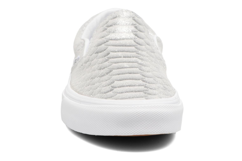 Baskets Vans Classic Slip On W Argent vue portées chaussures