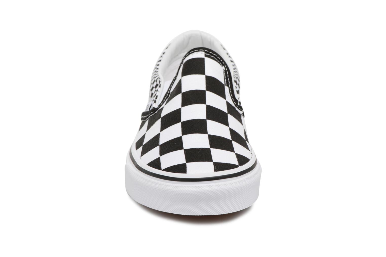 Baskets Vans Classic Slip On W Blanc vue portées chaussures