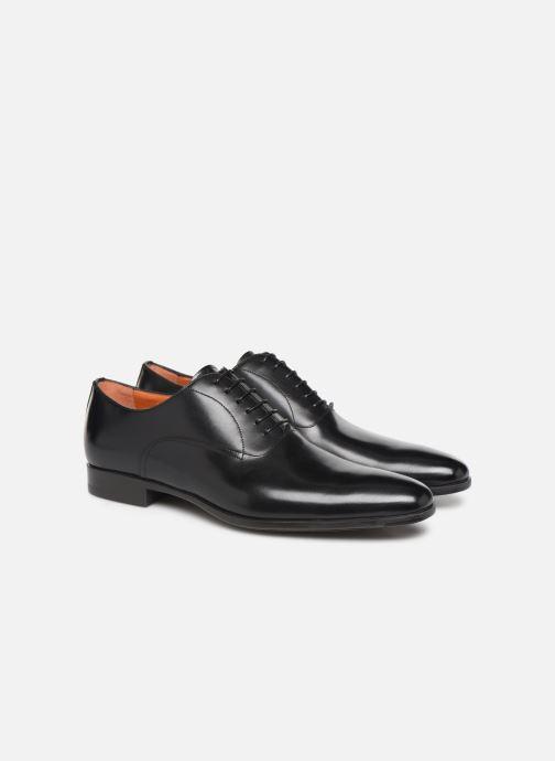 Zapatos con cordones Santoni William 7413 Negro vista 3/4