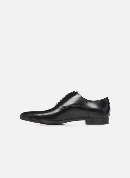 Zapatos con cordones Santoni William 7413 Negro vista de frente