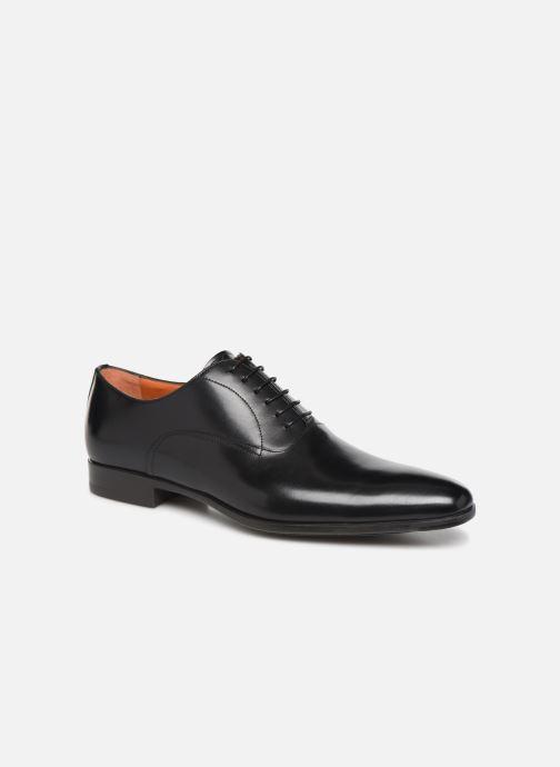 Zapatos con cordones Santoni William 7413 Negro vista de detalle / par