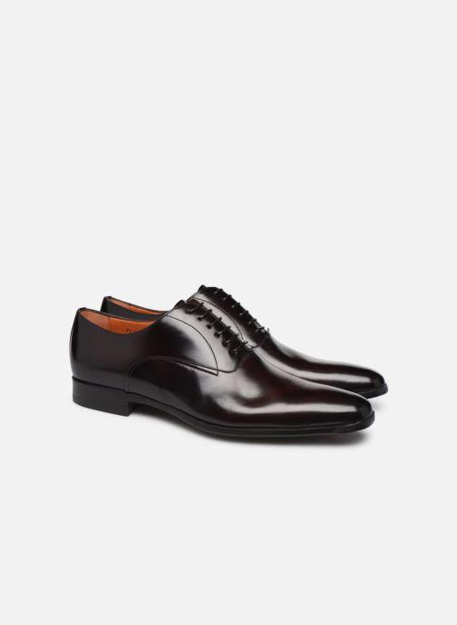 Chaussures à lacets Santoni William 7413 Bordeaux vue 3/4