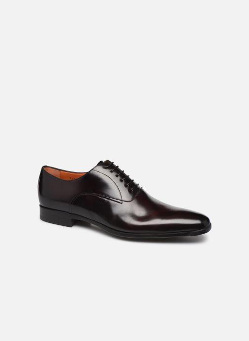 Chaussures à lacets Santoni William 7413 Bordeaux vue détail/paire