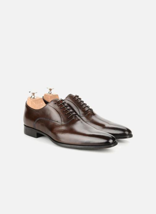 Lace-up shoes Santoni William 7413 Brown 3/4 view