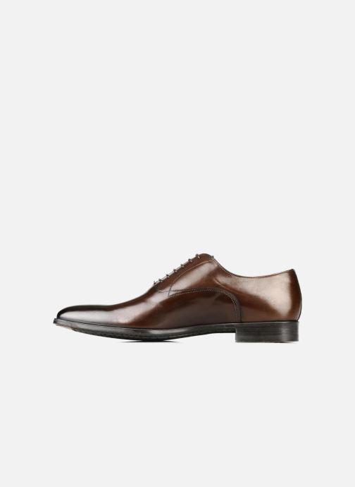 Lace-up shoes Santoni William 7413 Brown front view