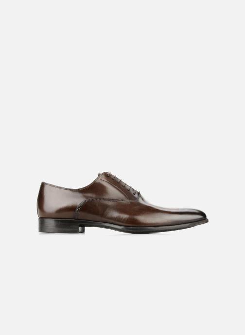 Lace-up shoes Santoni William 7413 Brown back view