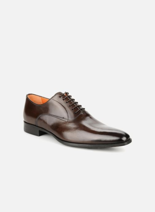 Lace-up shoes Santoni William 7413 Brown detailed view/ Pair view