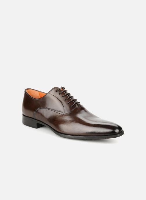 Chaussures à lacets Santoni William 7413 Marron vue détail/paire