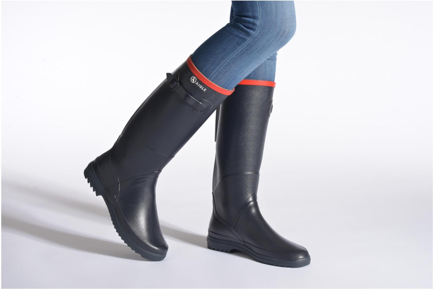 Boots & wellies Aigle Chantebelle Blue view from underneath / model view