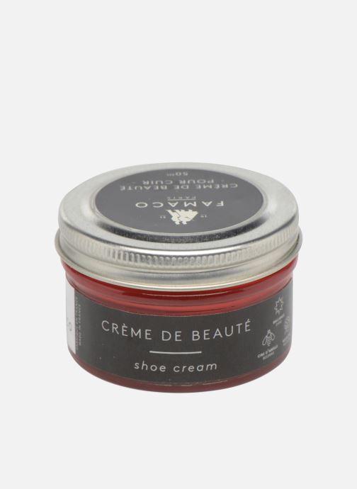 Produits d'entretien Famaco Cirage crème de beauté cuir 50 Ml Rouge vue portées chaussures