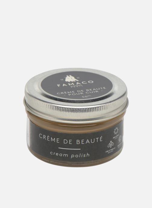 Produits d'entretien Famaco Cirage crème de beauté cuir 50 Ml Beige vue portées chaussures