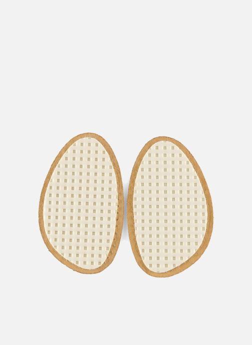 Zolen Famaco Mini zooltjes van leer & latex voor damesschoenen Beige voorkant