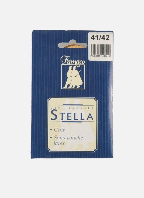 Zolen Famaco Mini zooltjes van leer & latex voor damesschoenen Beige rechts