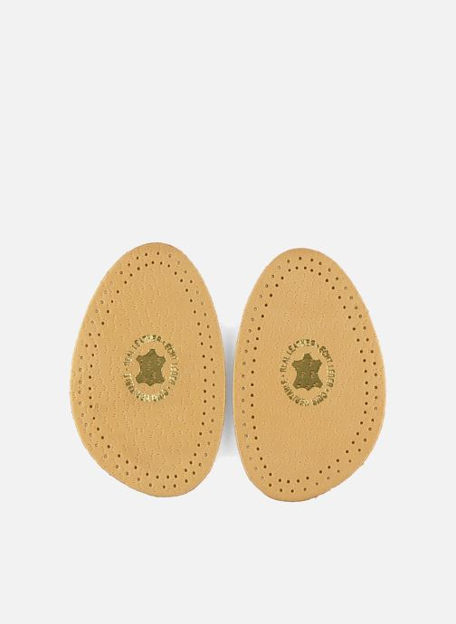 Insoles Famaco Half-size insole in leather and latex Beige detailed view/ Pair view