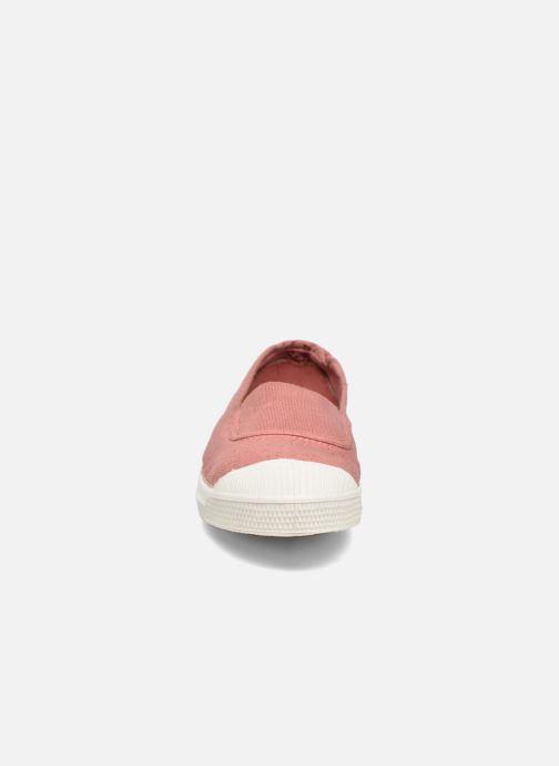 Ballerines Bensimon Tennis Elastique E Rose vue portées chaussures