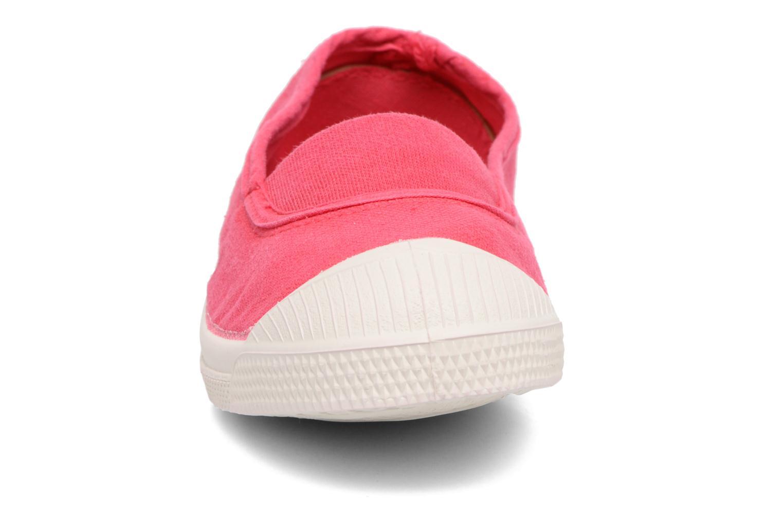 Ballerines Bensimon Tennis Elastique E Rouge vue portées chaussures