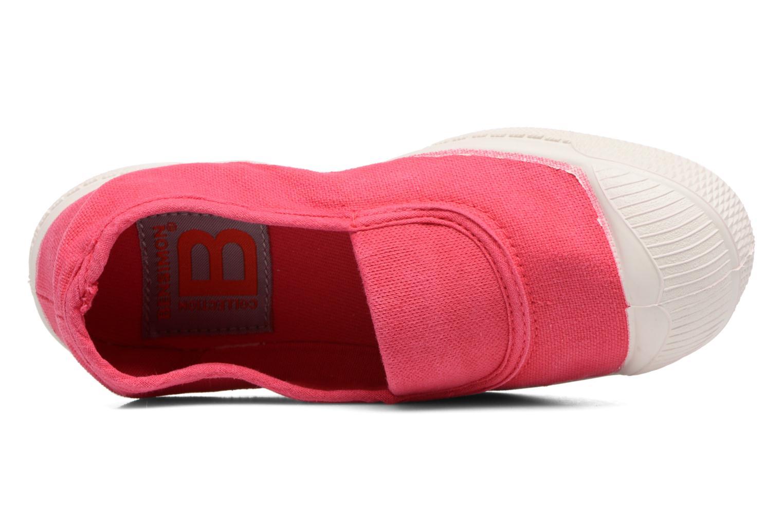 Ballerines Bensimon Tennis Elastique E Rouge vue gauche