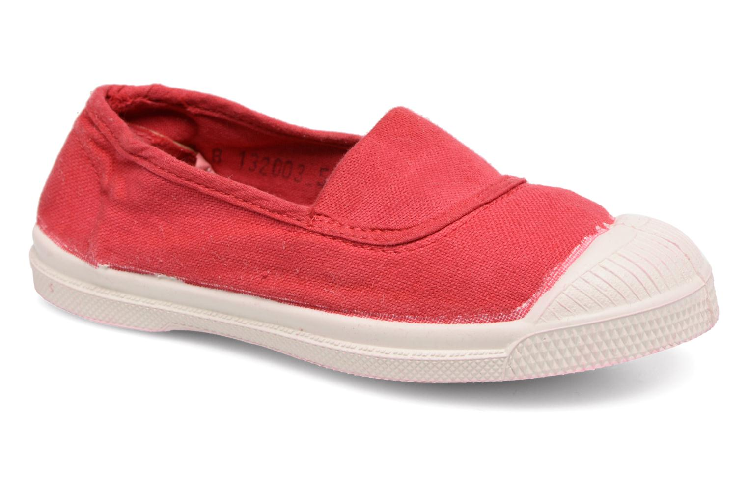 Ballet pumps Bensimon Tennis Elastique E Red detailed view/ Pair view