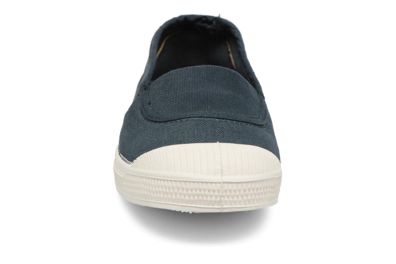 Ballerines Bensimon Tennis Elastique E Bleu vue portées chaussures