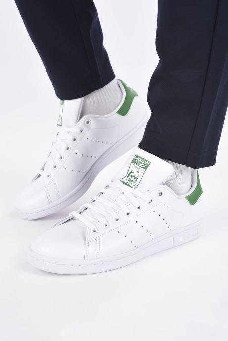 Baskets adidas originals Stan Smith Blanc vue bas / vue portée sac