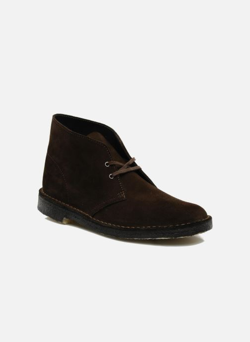 Ankle boots Clarks Desert Boot Brown detailed view/ Pair view