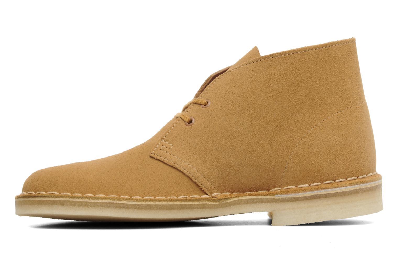 Boots en enkellaarsjes Clarks Desert Boot Geel voorkant