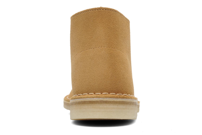 Boots en enkellaarsjes Clarks Desert Boot Geel rechts
