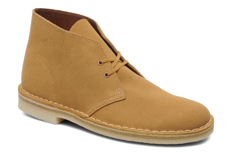 Boots en enkellaarsjes Clarks Desert Boot Geel detail