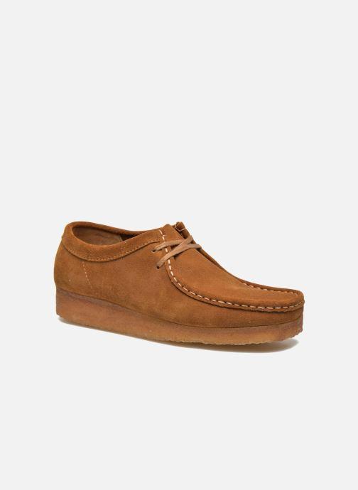 Snøresko Clarks Originals Wallabee Brun detaljeret billede af skoene