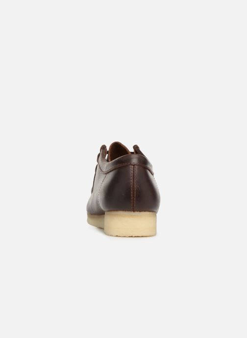 Lace-up shoes Clarks Originals Wallabee Brown view from the right