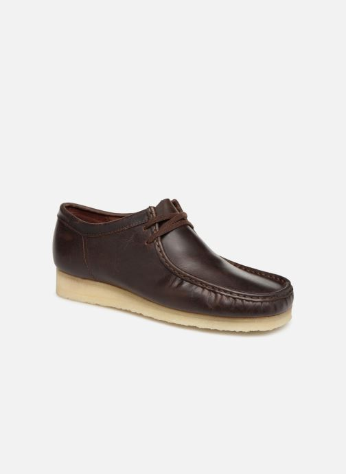 Zapatos con cordones Clarks Originals Wallabee Marrón vista de detalle / par