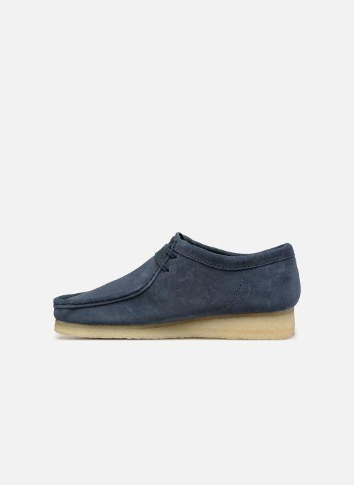 Chaussures à lacets Clarks Originals Wallabee M Bleu vue face