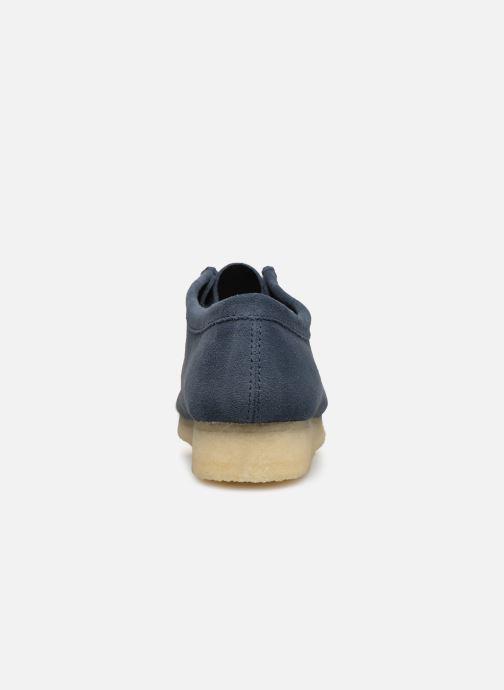 Schnürschuhe Clarks Originals Wallabee blau ansicht von rechts