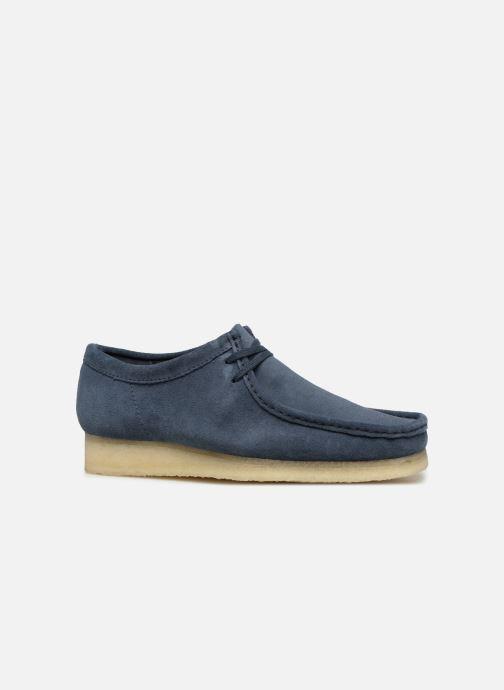Chaussures à lacets Clarks Originals Wallabee M Bleu vue derrière