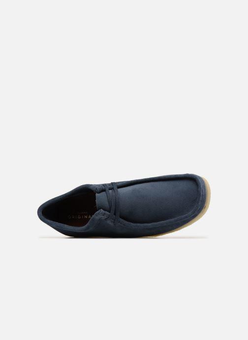 Zapatos con cordones Clarks Originals Wallabee Azul vista lateral izquierda