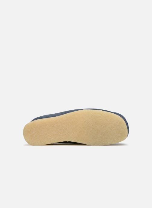 Schnürschuhe Clarks Originals Wallabee blau ansicht von oben